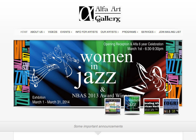 (2011) Alfa Art Gallery Website