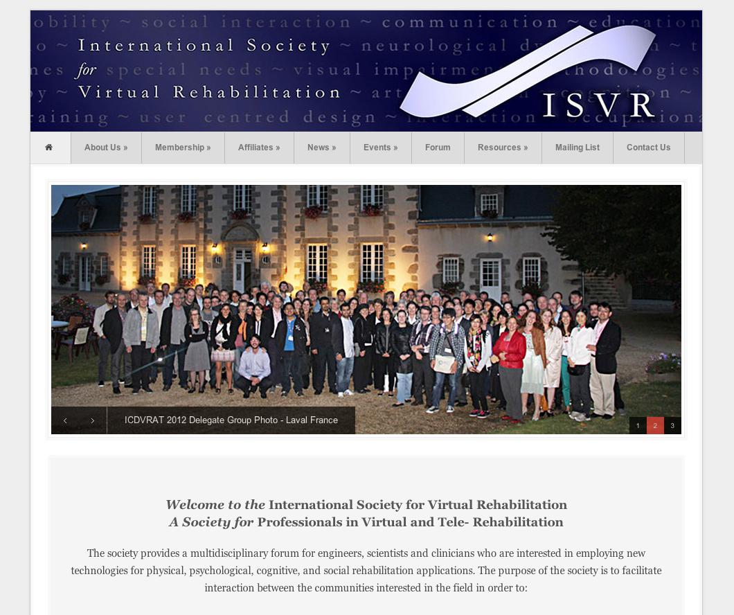 International Society for Virtual Rehabilitation