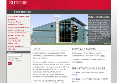 (2007) Rutgers EcoComplex Website