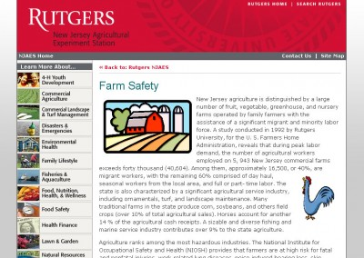 (2008) Rutgers Farm Safety Website