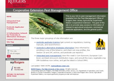 (2008) Rutgers Pest Management Website