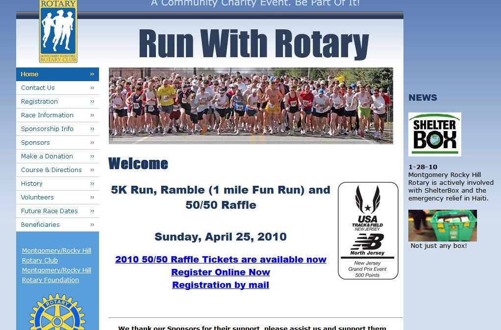 (2008) Run-With-Rotary Website