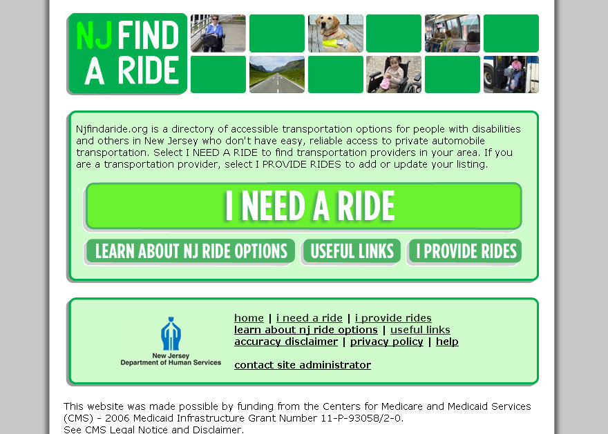 (2009) NJ Find-A-Ride Website