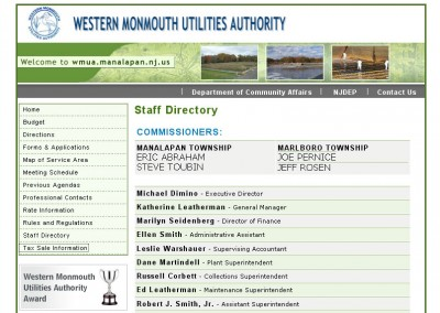 (2009) Western Monmouth Utilities Authority Website