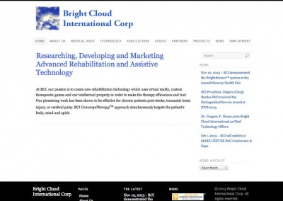 (2012) Bright Cloud International Website
