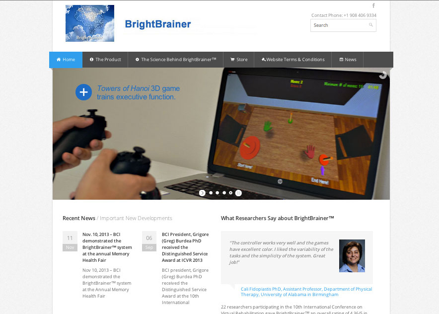 (2013) BrightBrainer Website