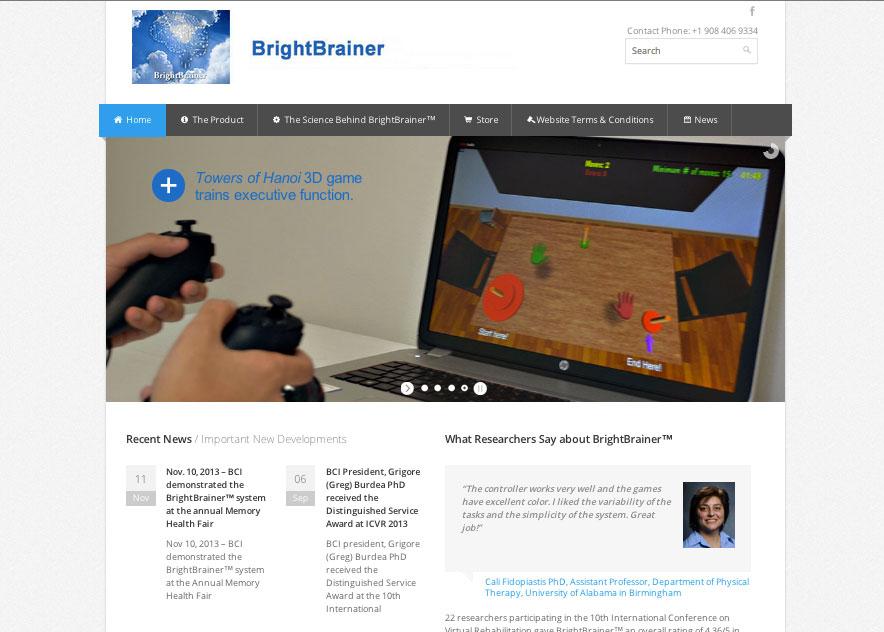 (2013) BrightBrainer Website