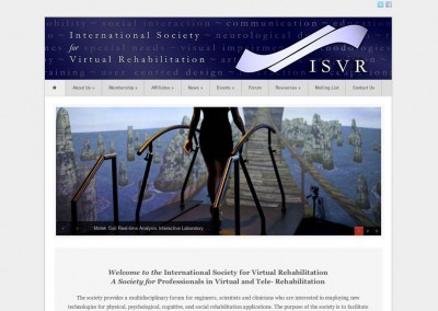 (2013) International Society for Virtual Rehabilitation Website